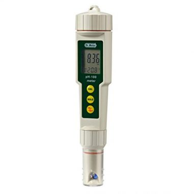 Dr-Meter-PH100-001-Resolution-High-Accuracy-Pocket-Size-pH-Meter-with-ATC-0-14pH-Measurement-Range-White-0-0