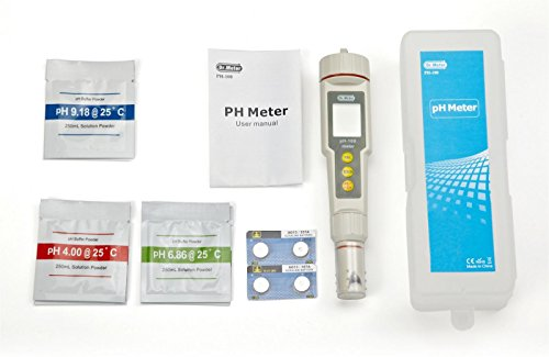 Dr-Meter-PH100-001-Resolution-High-Accuracy-Pocket-Size-pH-Meter-with-ATC-0-14pH-Measurement-Range-White-0-4