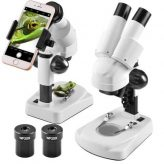 Stereo Microscope with Smartphone Adaptor for Spirulina Growers