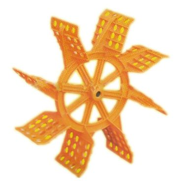 Spirulina production paddle-wheel-impeller